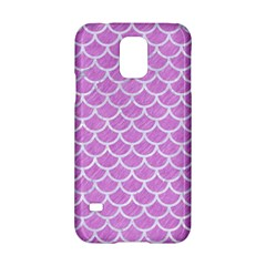 Scales1 White Marble & Purple Colored Pencil Samsung Galaxy S5 Hardshell Case  by trendistuff