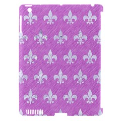 Royal1 White Marble & Purple Colored Pencil (r) Apple Ipad 3/4 Hardshell Case (compatible With Smart Cover)