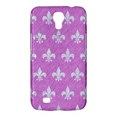 Royal1 White Marble & Purple Colored Pencil (r) Samsung Galaxy Mega 6 3  I9200 Hardshell Case