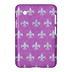 Royal1 White Marble & Purple Colored Pencil (r) Samsung Galaxy Tab 2 (7 ) P3100 Hardshell Case
