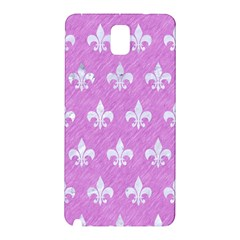Royal1 White Marble & Purple Colored Pencil (r) Samsung Galaxy Note 3 N9005 Hardshell Back Case