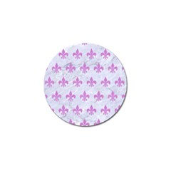 Royal1 White Marble & Purple Colored Pencil Golf Ball Marker by trendistuff