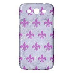 Royal1 White Marble & Purple Colored Pencil Samsung Galaxy Mega 5 8 I9152 Hardshell Case