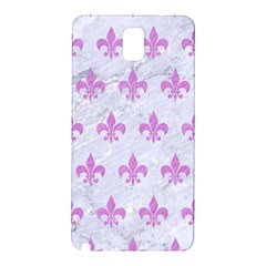 Royal1 White Marble & Purple Colored Pencil Samsung Galaxy Note 3 N9005 Hardshell Back Case