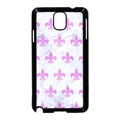 Royal1 White Marble & Purple Colored Pencil Samsung Galaxy Note 3 Neo Hardshell Case (black)