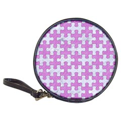 Puzzle1 White Marble & Purple Colored Pencil Classic 20 Cd Wallets by trendistuff