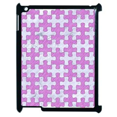 Puzzle1 White Marble & Purple Colored Pencil Apple Ipad 2 Case (black)