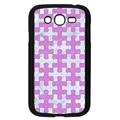 Puzzle1 White Marble & Purple Colored Pencil Samsung Galaxy Grand Duos I9082 Case (black)