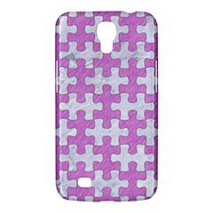 Puzzle1 White Marble & Purple Colored Pencil Samsung Galaxy Mega 6 3  I9200 Hardshell Case