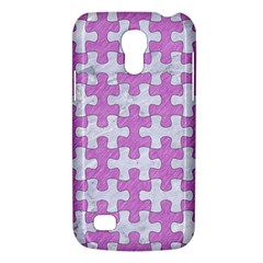 Puzzle1 White Marble & Purple Colored Pencil Galaxy S4 Mini