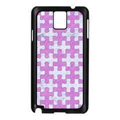 Puzzle1 White Marble & Purple Colored Pencil Samsung Galaxy Note 3 N9005 Case (black)