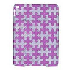 Puzzle1 White Marble & Purple Colored Pencil Ipad Air 2 Hardshell Cases