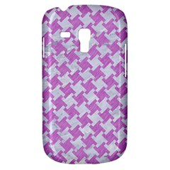 Houndstooth2 White Marble & Purple Colored Pencil Galaxy S3 Mini