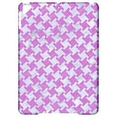 Houndstooth2 White Marble & Purple Colored Pencil Apple Ipad Pro 9 7   Hardshell Case