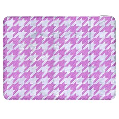 Houndstooth1 White Marble & Purple Colored Pencil Samsung Galaxy Tab 7  P1000 Flip Case