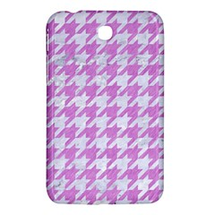 Houndstooth1 White Marble & Purple Colored Pencil Samsung Galaxy Tab 3 (7 ) P3200 Hardshell Case