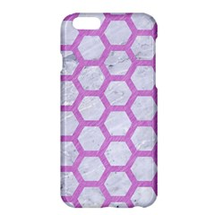 Hexagon2 White Marble & Purple Colored Pencil (r) Apple Iphone 6 Plus/6s Plus Hardshell Case
