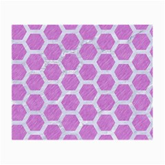Hexagon2 White Marble & Purple Colored Pencil Small Glasses Cloth