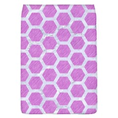 Hexagon2 White Marble & Purple Colored Pencil Flap Covers (l)