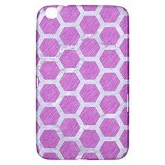 Hexagon2 White Marble & Purple Colored Pencil Samsung Galaxy Tab 3 (8 ) T3100 Hardshell Case