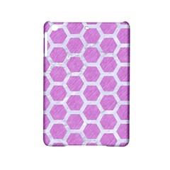 Hexagon2 White Marble & Purple Colored Pencil Ipad Mini 2 Hardshell Cases