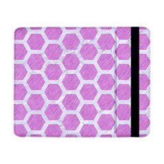 Hexagon2 White Marble & Purple Colored Pencil Samsung Galaxy Tab Pro 8 4  Flip Case