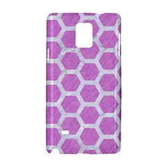 Hexagon2 White Marble & Purple Colored Pencil Samsung Galaxy Note 4 Hardshell Case