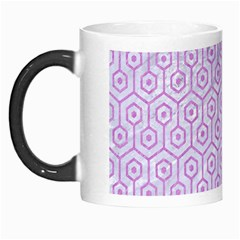 Hexagon1 White Marble & Purple Colored Pencil (r) Morph Mugs by trendistuff