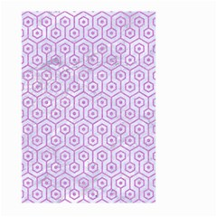 Hexagon1 White Marble & Purple Colored Pencil (r) Large Garden Flag (two Sides)