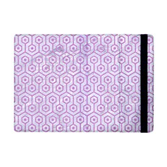 Hexagon1 White Marble & Purple Colored Pencil (r) Apple Ipad Mini Flip Case