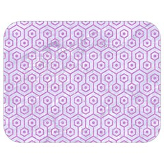 Hexagon1 White Marble & Purple Colored Pencil (r) Full Print Lunch Bag by trendistuff
