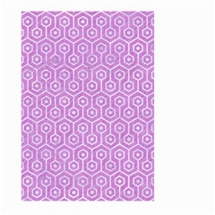 Hexagon1 White Marble & Purple Colored Pencil Large Garden Flag (two Sides)