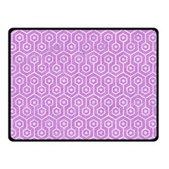 Hexagon1 White Marble & Purple Colored Pencil Double Sided Fleece Blanket (small)