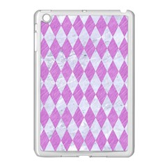 Diamond1 White Marble & Purple Colored Pencil Apple Ipad Mini Case (white)