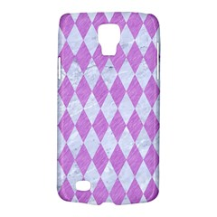 Diamond1 White Marble & Purple Colored Pencil Galaxy S4 Active