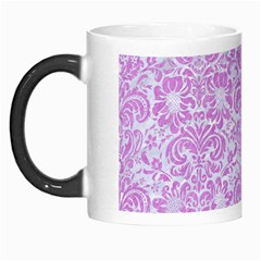 Damask2 White Marble & Purple Colored Pencil (r) Morph Mugs