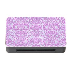 Damask2 White Marble & Purple Colored Pencil (r) Memory Card Reader With Cf by trendistuff