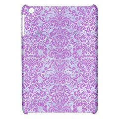 Damask2 White Marble & Purple Colored Pencil (r) Apple Ipad Mini Hardshell Case