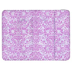Damask2 White Marble & Purple Colored Pencil (r) Samsung Galaxy Tab 7  P1000 Flip Case