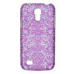 Damask2 White Marble & Purple Colored Pencil (r) Galaxy S4 Mini