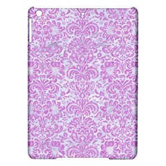 Damask2 White Marble & Purple Colored Pencil (r) Ipad Air Hardshell Cases