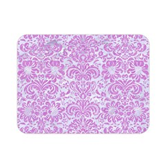 Damask2 White Marble & Purple Colored Pencil (r) Double Sided Flano Blanket (mini)