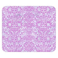 Damask2 White Marble & Purple Colored Pencil (r) Double Sided Flano Blanket (small)