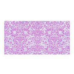 Damask2 White Marble & Purple Colored Pencil (r) Satin Wrap