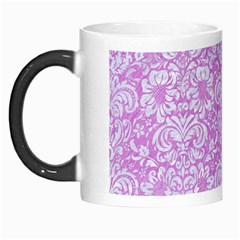 Damask2 White Marble & Purple Colored Pencil Morph Mugs