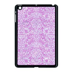 Damask2 White Marble & Purple Colored Pencil Apple Ipad Mini Case (black)