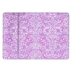 Damask2 White Marble & Purple Colored Pencil Samsung Galaxy Tab 10 1  P7500 Flip Case