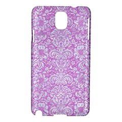Damask2 White Marble & Purple Colored Pencil Samsung Galaxy Note 3 N9005 Hardshell Case