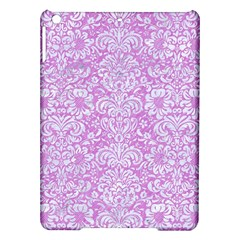 Damask2 White Marble & Purple Colored Pencil Ipad Air Hardshell Cases