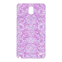 Damask2 White Marble & Purple Colored Pencil Samsung Galaxy Note 3 N9005 Hardshell Back Case